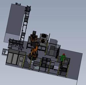 Robotermontagezelle