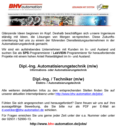 BHV-Automation | Jobs