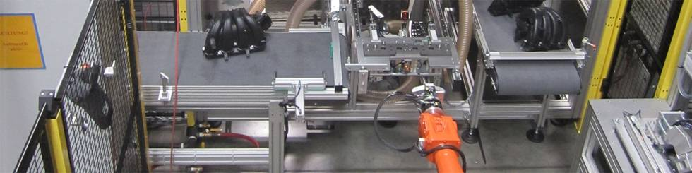 Assembly line suction pipe