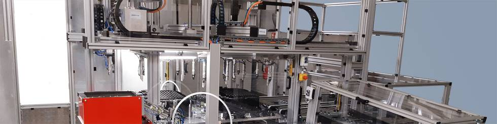 Oil pan assembly line