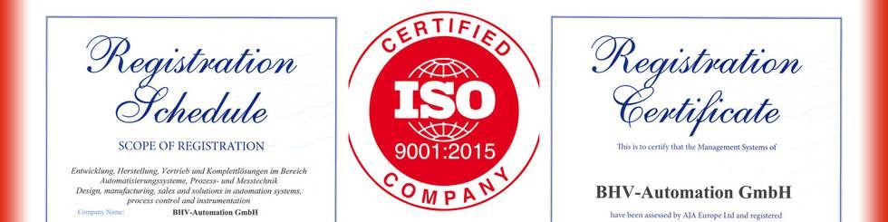 Unsere Lösungen entsprechen den Anforderungen der DIN ISO 9001:2015