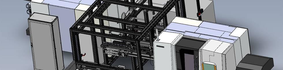Standardisiertes Stangen-/Rohrvereinzelungssystem - Gesamtansicht