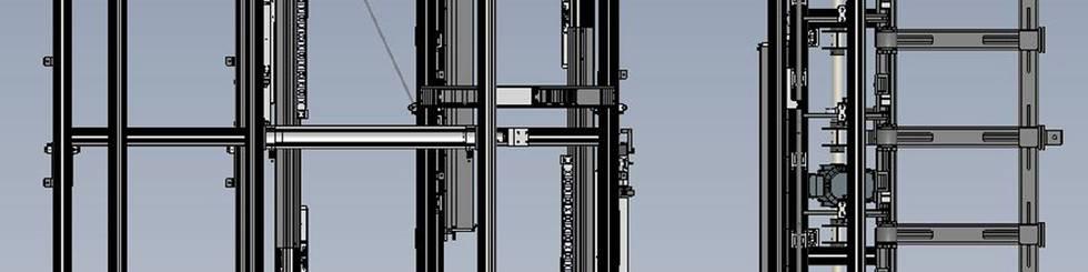 Standardisiertes Stangen-/Rohrvereinzelungssystem - Aufsicht