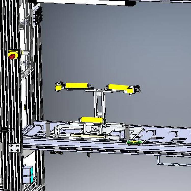 Integrierter vollautomatischer Handarbeitsplatz in der Verkettung von Maschinen