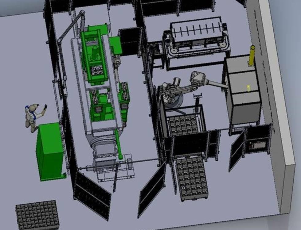 Robotermontagezelle für Hochspannungsvakuumschalter Umspritzen