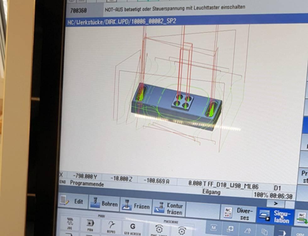 CNC milling with DMG Mori